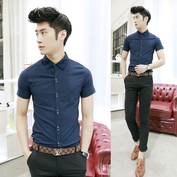 Korean Fashion Style 2014 For Men summer dress new Korean