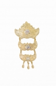 Aliyyah 3 Layer Dokoh Brooch Tradisional Style with Crystal stone