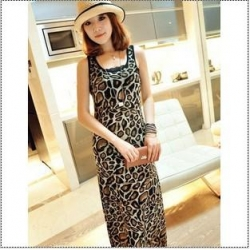 Leopard Print Maxi Dress on Leopard Print Sleeveless Maxi Dress   Online Dress Shopping   Ezytred