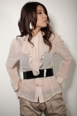 Chiffon Top with Belt