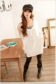 Draw String 3/4 Sleeves Top