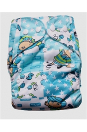 Happy Printed Diaper with 2 Inserts