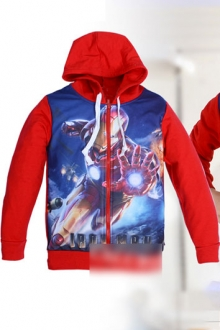 Cartoon Printed Hooded Jacket