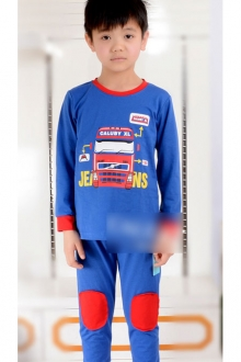 Baby Cute Bus Printed 2 pcs Long Sleeve Set