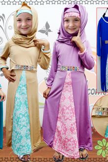 Diamond Belt Design Jubah Dress (Including Shawl)
