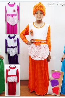 Lace Design with Ribbon Jubah Dress (Including Shawl)