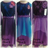 Lace Design with Ribbon Jubah Dress Including Shawl