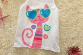 Jumping Beans Cute Kitten Sleveeless Top