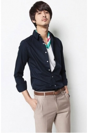 Korea Casual Long Sleeves Shirt