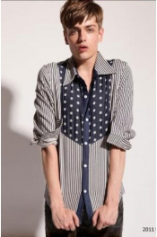 Polka Dots Stripes Long Sleeves Shirt