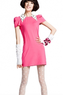 One Piece Dress with Star Print Collar