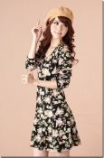Sleeve Floral Dress