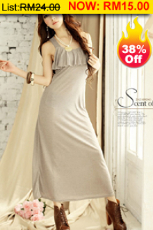 Sleeveless Dress with Pattern on Chest