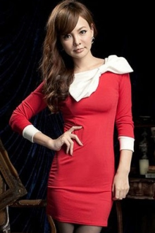 Basic Slim Dress with Big Ribbon