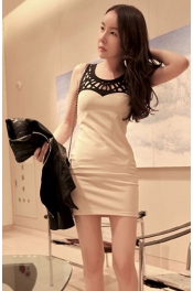 Hollow-Out Slim Dress 