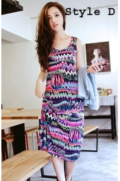 Ethnic Style Sleeveless Midi Dress 
