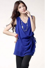 2 Pieces Joint Layered Chiffon Dress 