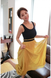 2 Pieces Joint Chiffon Long Dress