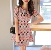 Tribal Printed Flare Dress