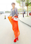 Trendy Basic Chiffon Long Skirt