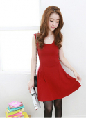Women Sleeveless Flare Dress