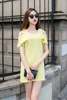 Korean Trendy Off Shoulder Women Dress