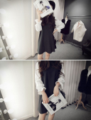 Mini Dress with Ruffle Sleeve