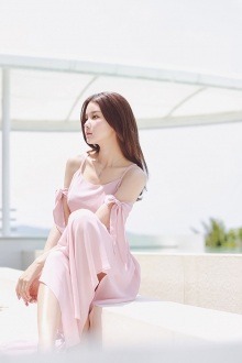 Sexy Ribbon Sleeve Maxi Beach Dress