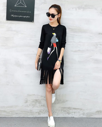 Graphic Fringe Dress