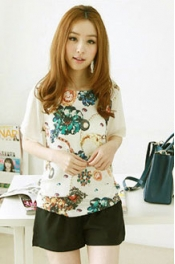 Gem Printed Casual Top 