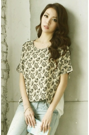 Crown Printed Short Sleeve Casual Tee 