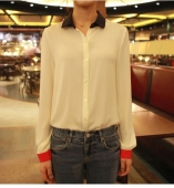 Trendy Basic Button Collared Top