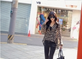 Leopard Design Translucent Chiffon Top