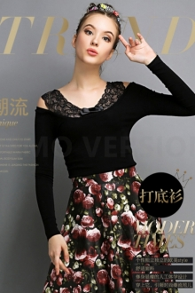Trendy Lace Design Women Top