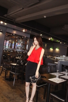 Double Layered Sleeveless Chiffon Top