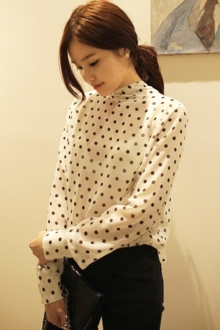 Korean Polka Dots Design Women Top