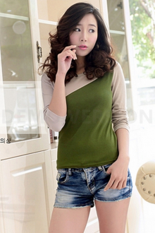 2 Tones Women Casual Tee