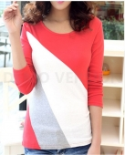 Mix Color Women Casual Tee