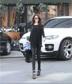 2 Pieces Joint Chiffon Back Casual Long Tee