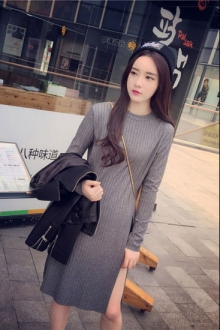 Long Sleeve Round Neck Women Top