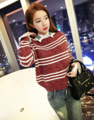 Women Stripe Sweatshirt