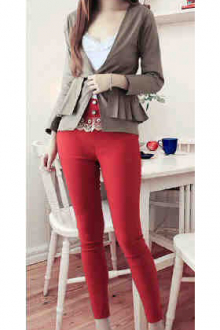 One Button Women Blazer