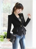 Basic One Button Women Blazer