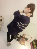 Wording Printed Back Design Jacket