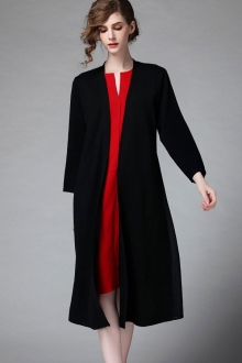 Stitching Beads Design Long Coat