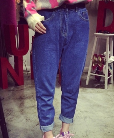 High Waist Denim Pants