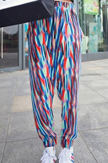 Colorful Design Harem Pants