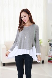 2 Pieces Joint Asymmetric Maternity Top