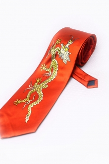 Dragon Printed Trendy Necktie