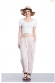 Almond Pleated Pant